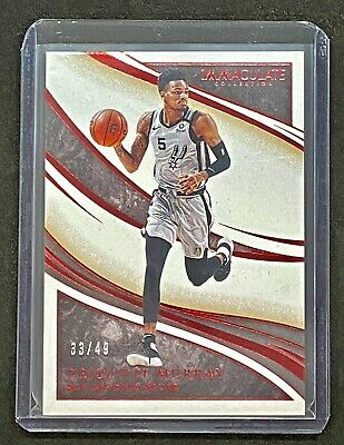 AU0.99 • Buy 2019-20 Immaculate Dejounte Murray /49 Red Base San Antonio Spurs /not RC NBA