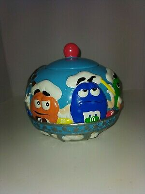 $35 • Buy M&M Ceramic Cookie Jar& Tin Bus Collectibles By Galerie. 2002