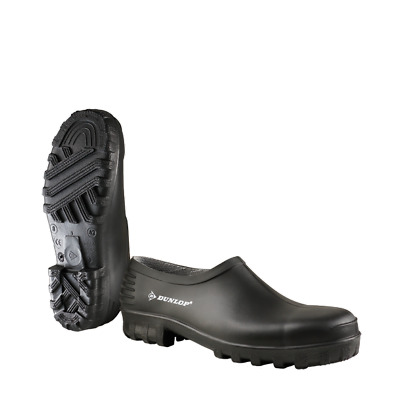 Dunlop Unisex Waterproof Wellie Garden Shoes Clogs Black Size 12 UK • 12.95£