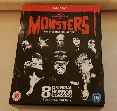 Universal Classic Monster - The Essential Collection (Blu-ray, 2012, 8-Disc Set… • 3.40£