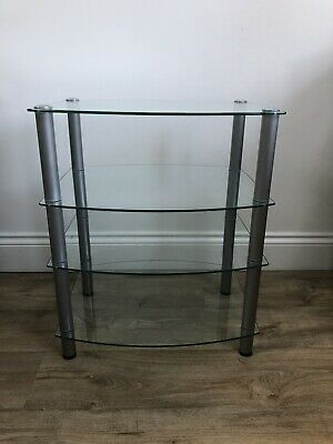 4 Tier Glass Display Stand,TV Stand, DVD,Hi-Fi, Game Console Unit. • 40£
