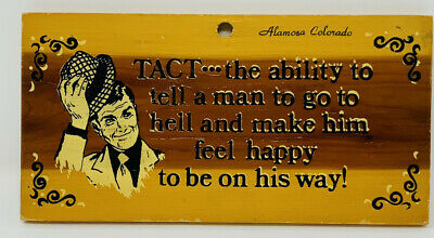 Funny And Humorous TACT Wooden Sign Plaque - Alamosa Colorado To The Man Cave • 6.51£