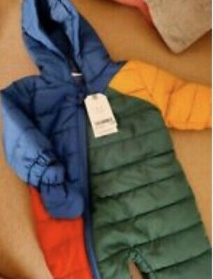 Next Baby Snowsuit Pramsuit All In One BRAND NEW 0-3 Months • 8£