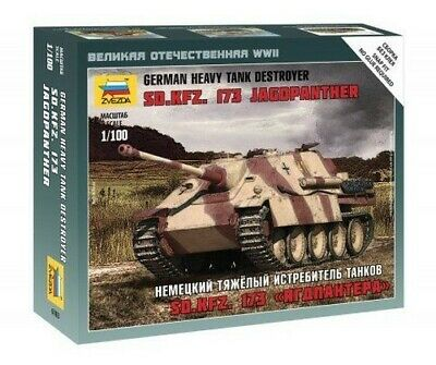 AU12.06 • Buy Zvezda 1/100 Sd.Kfz.173 Jagdpanther German Heavy Tank Destroyer # 6183