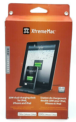 £28.83 • Buy New 10w Dual Charging Dock By XtremeMac Incharge Duo For Apple IPod IPhone IPad
