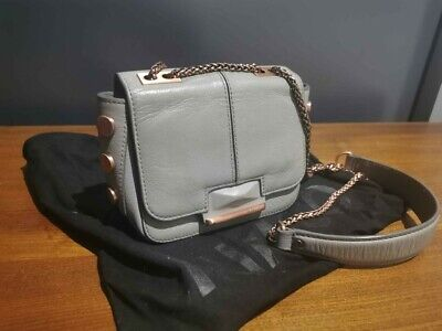 AU50 • Buy MIMCO Trance Mini Hip Clutch Bag, Grey And Rose Gold. Good Condition. RRP $350