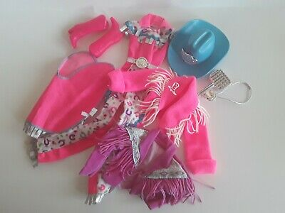 $ CDN21.99 • Buy Barbie Vintage Hot Pink Western Outfit Lot, Exc. Cond.