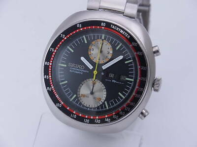 $ CDN1460.91 • Buy Seiko 6138-0011 Vintage Chronograph Day Date SS Automatic Mens Watch Auth Works