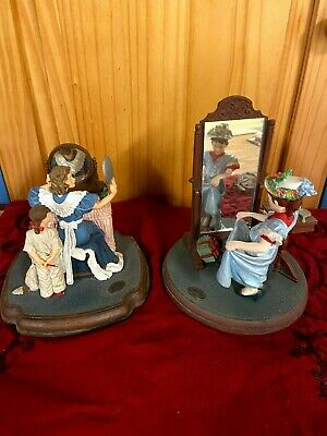 """$ CDN12.75 • Buy Norman Rockwell Ceramic Figurines """"When I Grow Up"""" And  Dressing Up"""""""
