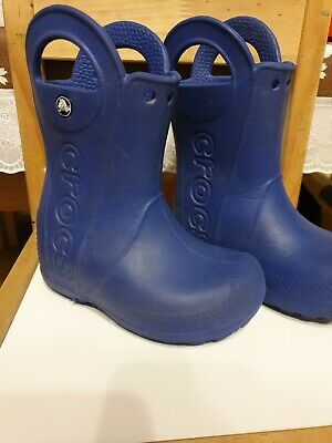Crocs Boys Blue Wellies Size 8 Wellington Boots  • 3.60£