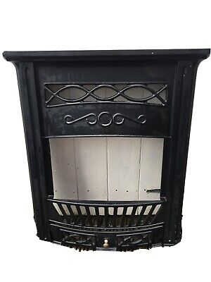 Beautiful Victorian Style Cast Iron Bedroom Fireplace Surround With Grate • 45£