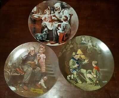 $ CDN15.31 • Buy Knowles Collector Plates Norman Rockwell 3 Plates