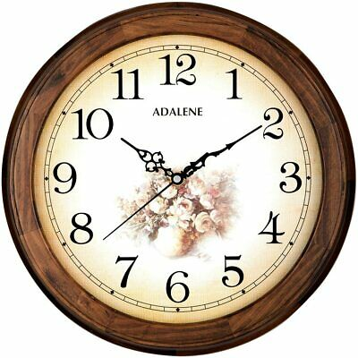 Adalene Wooden 14-Inch Shabby Chic Wall Clock Decorative Living Room Clock • 28.60£