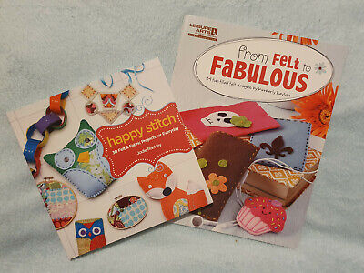 Sewing Felting Books X2 From Felt To Fabulous And Happy Stitch • 1.99£
