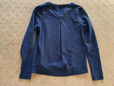 $ CDN37 • Buy 🍋 Lululemon Crew Neck Long Sleeve Black Pullover Sweatshirt Pleated Size: 6 EUC