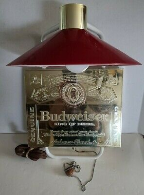 $ CDN63.57 • Buy Vintage Budweiser King Of Beers Register Wall Light Sign Lamp Anheuser Busch