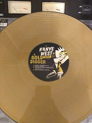 Kanye West 12'vinyl Gold Digger (gold Vinyl) Hip Hop Vg+condition. • 6£