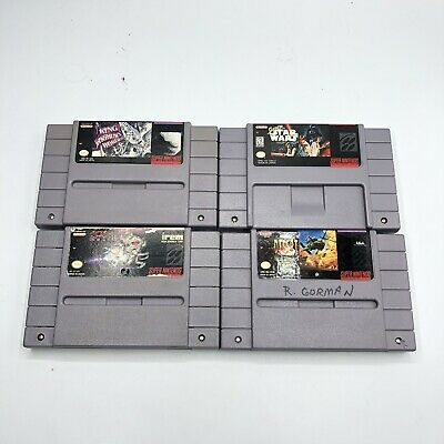 $ CDN2.87 • Buy Lot Of 4 Super Nintendo SNES Video Games Star Wars King Arthur (Tested/Working)