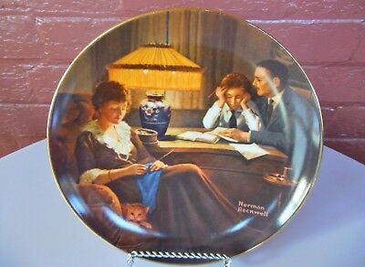 $ CDN8.92 • Buy Knowles China Rockwell  Father's Help  Light Campaign 8 1/2  Collector Plate