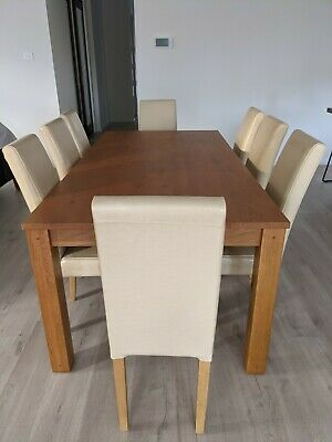AU500 • Buy 8 Seater Dining Table With Chairs And Display Cabinet