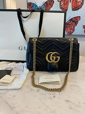 AU1890 • Buy Gucci GG Marmont Black Shoulder Bag RRP $2990 - Excellent Condition