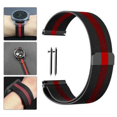 AU17.98 • Buy 20 22mm Milanese Loop Watch Band Magnetic Strap For Apple Fossil Samsung Watch