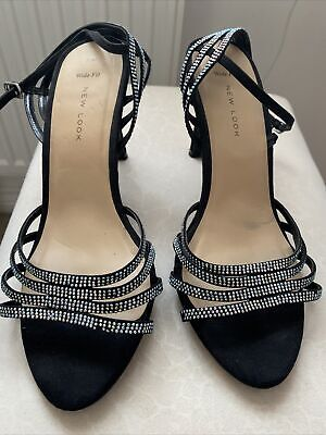 New Look Womens High Heels, Size 7, Wide Fit, Diamante, Sparkly • 1.20£