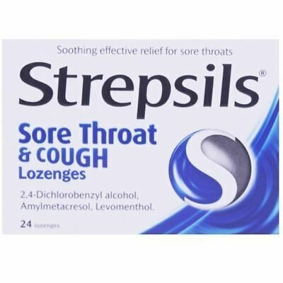 Strepsils Sore Throat And Cough | 24 Lozenges • 5.76£