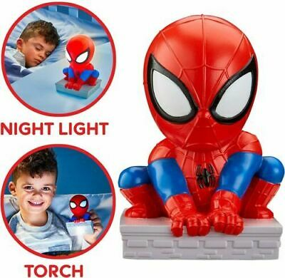 £12.79 • Buy Spiderman Goglow Buddy Night Light And Torch 2 In 1 Soft Squishy Auto Turn Off