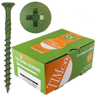 £6.69 • Buy 200 X Timco Solo Decking Screws Professional Quality Pozi Landscape Fencing