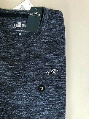 Mens/Teenage Boys Hollister T-Shirt - Size XS - Brand New With Tags - Navy • 4£