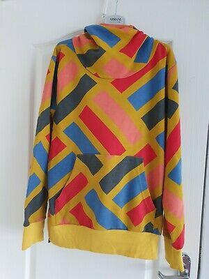 Pa:nuu Ladies Rainbow Retro Hoodie Sweatshirt Size L Fab! • 11£