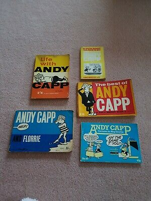 5 X Vintage Andy Capp Books • 20£