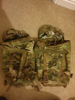 British Army Issued MTP Side Rocket Pouches And Large Bergen Cover SAS PARA ECM • 0.99£