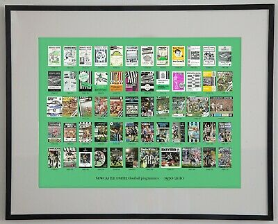 Print Of Newcastle United Programmes 1950-2010 • 13.50£