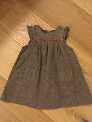 Jacadi Paris Beautiful Baby Girl Winter Dress Size 18 Months Excellent Condition • 8£