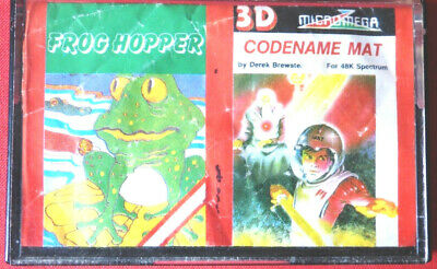 Frog Hopper+Codename MAT By Walltone/Micromega-DIXONS Release (Spectrum)-TESTED • 3£