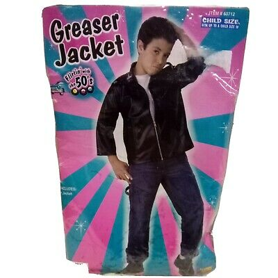 £11.53 • Buy Grease Faux Leather Jacket Child Greaser T-Bird 50s Size Up To 10