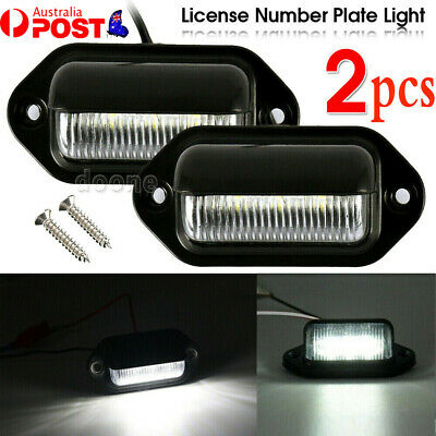 AU10.45 • Buy 2PCS 6 LED License Number Plate Light Lamps For Truck SUV Trailer Lorry 12/24V