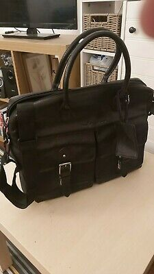 Ralph Lauren - Black Leather Briefcase - Unused • 81£