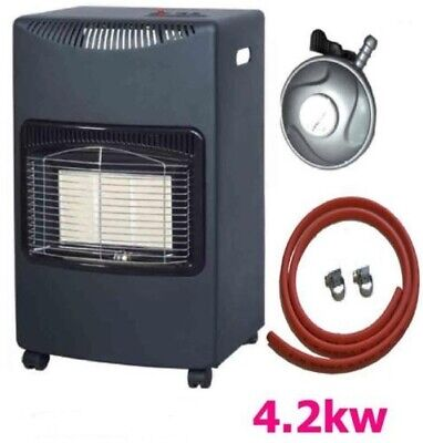 NEW CALOR 4.2kw PORTABLE HEATER FREE STANDING HEATING CABINET BUTANE GAS HEATERS • 78.99£