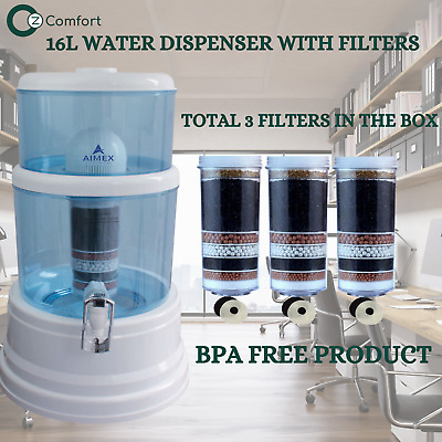 AU105 • Buy Benchtop Water Dispenser Purifier Jug 8 Stage Filter + 3 Water Filters 16L AIMEX