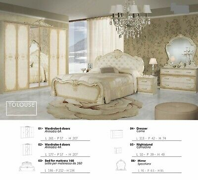 £999 • Buy New Stunning Italian Complete Bedroom Set Clearnaces Offer