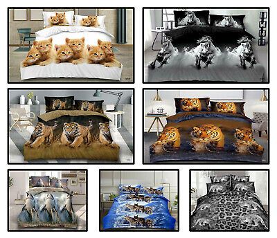 3D Animal Print Duvet Cover Set Valuable Design Perfect Sizes Double King S/King • 21.89£