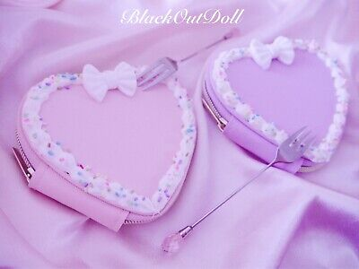 Heart Cake Dessert Whipped Cream Kawaii Deco Decoden Pastel Pouch Purse • 13.02£
