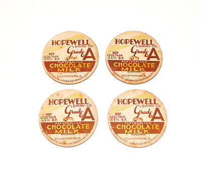 $11.99 • Buy Hopewell Dairy Chocolate Milk Bottle Caps Top Bellefontaine OH Logan County Ohio