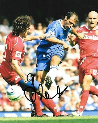 Gianfranco Zola Chelsea In Action Striking Ball Signed 10x8 Photo  • 29.99£
