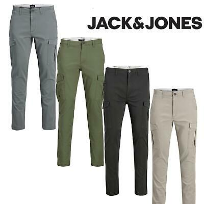 $ CDN43.30 • Buy Jack And Jones Cargo Trousers Chinos Men's Slim-Fit Stretchable Jeans Pants