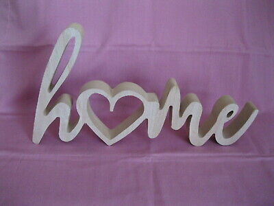 'HOME' Wooden Freestanding Sign, Decorative Logo, Ornament, New House Gift  • 7.99£