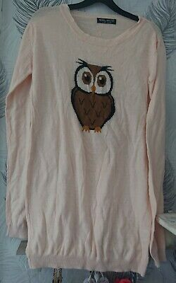 Select Peach Owl Jumper Size 18 • 6£